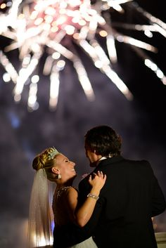 Celebrate your dream fairy tale wedding with Disney fireworks. Photo: Beth at Disney Fine Art Photography