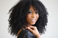 Julianka // 3C Natural Hair Style Icon | Black Girl with Long Hair