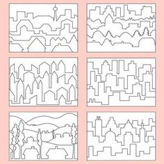 Farbperspektive - Stadt PDF Good template for students studying atmospheric perspective. Art Education Lessons, Art Lessons Elementary, Elementary Education, Middle School Art, Art School, Projects For Kids, Art Projects, Monochromatic Art, Contemporary Art Prints