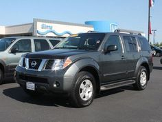 Nissan Pathfinder. This was my baby car that I reluctantly traded in my Mustang GT to fit a car seat and stroller. I had a 2007 in sand. The Pathfinder was great but too big for me.