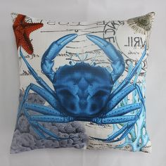 Cheap cushion block, Buy Quality sofa cushions for sale directly from China sofa cushion pattern Suppliers: ocean collection pink octopus cotton linen cushions cover pillows case cover throw pillow embroidery home decor 16*16