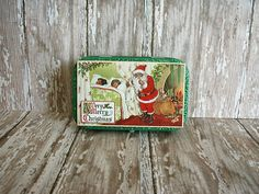 Altered Altoids® Tin Table or Desk Top Mini Scrapbook Album The Night Before Christmas, Christmas Morning, Die Cut Machines, Altoids Tins, Twas The Night, Green Butterfly, Graphic 45, Holiday Festival, Alters