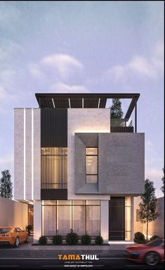 Modern Villa Design, Modern Exterior House Designs, Modern Architecture Design, Dream House Exterior, Facade Design, Facade Architecture, Exterior Design, House Outside Design, House Gate Design