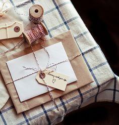 kraft envelope: baker's twine & paper envelope