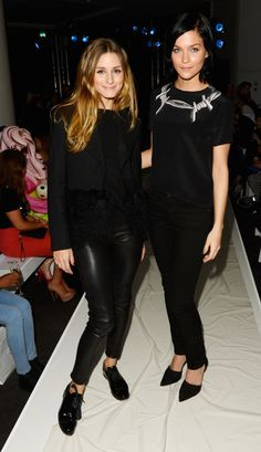 Gyunel AW 14 LFW Show  LONDON, ENGLAND - FEBRUARY 14: Olivia Palermo and Leigh Lezark attend the Gyunel AW 14 LFW Show at ME Hotel on February 14, 2014 in London, England. (Photo by David M. Benett/Getty Images for Gyunel) *** Local Caption *** Olivia Palermo;Leigh Lezark 2014 David M. Benett