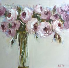 Art | Paint to Me | RosamariaGFrangini | Lilac Roses Painting by