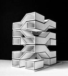 Conceptual maquette Residential complex by Milad Bazazan & Samira Khodadadisnapchat❌nextarch