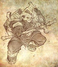 Pandaren Brewmaster by Lukali Fantasy Character Design, Character Concept, Character Art, Concept Art, Warcraft Characters, Fantasy Characters, Warcraft Art, World Of Warcraft, Fantasy World
