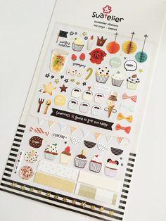 Cupcakes Stickers // Erin Condren Planner Stickers // Scrapbooking embellishment // DIY essentials