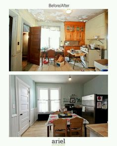 Rehab addict - Case Ave kitchen. Before/ after by Ariel Photography