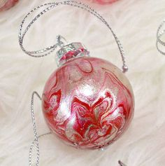 diy marbled christmas ornaments, christmas decorations, seasonal holiday decor