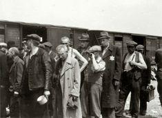 Jewish men on the platform before selection