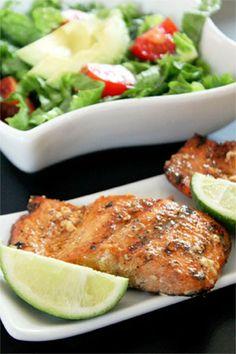 Citrus Marinated Grilled Salmon recipe