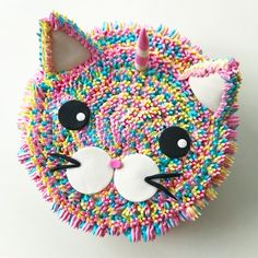 No photo description available. 9 Year Old Girl Birthday, Birthday Cake For Cat, 4th Birthday Cakes, Easy Birthday Cake Recipes, Cake For Boyfriend, Kitten Party, Girl Cakes, Animal Party, Kawaii