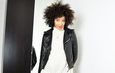 #mercredie #blog #mode #geneve #geneva #fashionblogger #suisse #switzerland #blogueuse #blogger #lespetites #col #roule #turtle #neck #turtleneck #perfecto #balenciaga #leather #jacket #biker #zips #black #afro #hair #nappy #natural #curls #curly #color #colored #Black