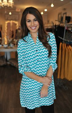 Dottie Couture Boutique - Missoni Tunic Dress- Teal, $42.00 (http://www.dottiecouture.com/missoni-tunic-dress-teal/)