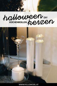Diy Party Decorations, Autumn Decorations, Diy Blog, Fall Diy, Halloween Diy, Pillar Candles, Glass Of Milk, Fall Decor, Cocina Diy