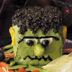 Cheesenstein Recipe from Taste of Home -- shared by Nila Grahl of Gurnee, Illinois  #Halloween  #Frankenstein