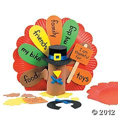 Paper Plate Turkey Centerpiece Craft Kit - Make homemade with toilet paper tubes and paper plates  sc 1 st  Pinterest & Paper Plate Turkey Craft Using Tissue Paper - Crafty Morning | Easy ...