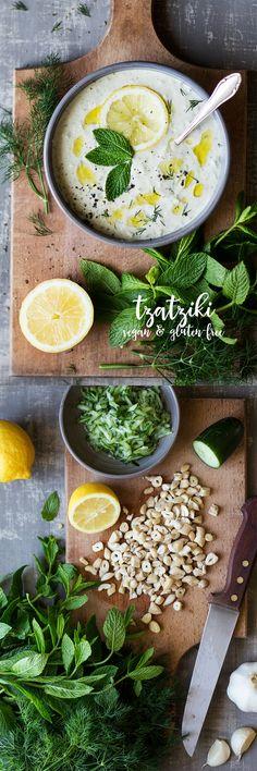#vegan #greek #dip #dairyfree #tzatziki #cucumber #summer #side #healthy #cashews #glutenfree #mint #garlic #mint