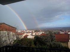 Arco iris, rainbow en Madrigal de la Vera.