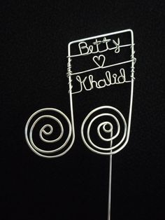 Personalized Musical Note Wedding Cake Topper by heatherboyd, $25.00