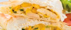 Chicken & Corn Filo Triangles recipe from Food in a Minute