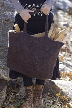 Montana Felted Eco-Tote - free pattern