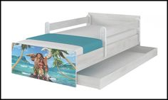Disney children's bed Moana – Kiddymill Magical Room, Childrens Desk, Mattress Frame, Bed With Drawers, How To Make Bed, Toy Boxes, Moana, Kid Beds, Cot