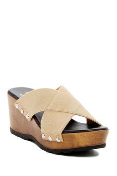 Tassye Slip-On Wedge Platform Sandal by Callisto on @nordstrom_rack