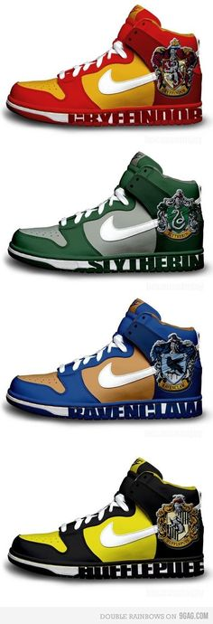 Hogwarts House Shoes - Mine would be Slytherin