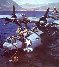 "PBY 5A Catalina ""Cats went everywhere & did almost everything- the DC-3s of the waves."" KB"
