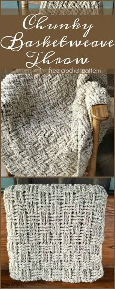 Crochet Basketweave Throw Blanket Pattern