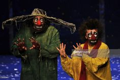 Clowns perform during the premiere of Slava's Snowshow at the Centro Cultural Telmex on May 14, 2009 in Mexico City, Mexico.