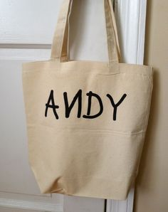 Andy tote bag Toy story tote bag toy story bag by rachelwalter, $14.00