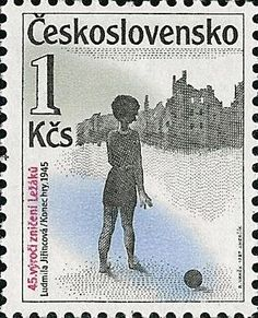 Stamp: The End of the game by LUDMILA JIŘINCOVÁ (1912-1994), student of Professor Tavik František Šimon.