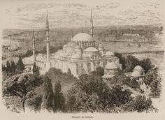 Süleymaniye Mosque. - DE AMICIS, Edmondo -1883