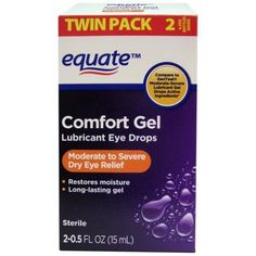 NOT AS STRONG AS REFRESH OPTIVE GEL -- $8.97 FOR 1.0 FL OZ --- Equate Comfort Gel Lubricant Eye Drops, 0.5 fl oz, 2 count