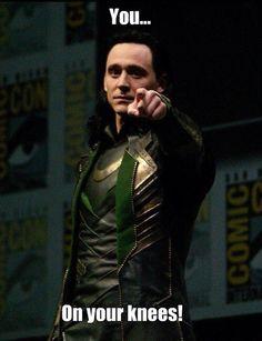 Loki: You! Loki: Yes! You Mewling Quim! *approaches Loki* Loki: Will You be my Queen and rule the world with me? Me: *faints* Tom Hiddleston Loki, Thomas William Hiddleston, Loki Thor, Loki Laufeyson, Marvel Avengers, Loki God Of Mischief, The Dark World, British Men, Celebs