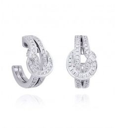 The Knot White Gold And Diamond Earrings