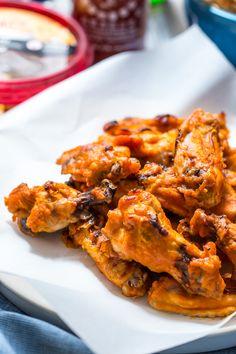 Sriracha Hummus Chicken Wings