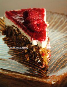 SOFETO Γεύσεις υγείας.: Κέικ με ελαφριά κρέμα πορτοκαλιού και σάλτσα από βατόμουρα, χωρίς ζάχαρη και με λίγα λιπαρά!