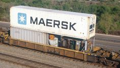 Maersk logo on shipping container