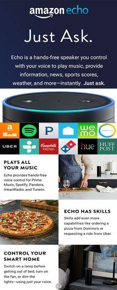 Just Amazon Echo - www.theteelieblog.com Echo will give you the information you want. #amazonecho