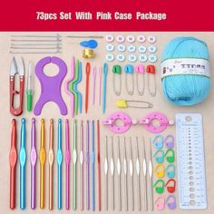 Fancy Crochet Set Crochet Kit Set with Case Exclusive Weaving Tools Sweater Needle Stainless Steel Sewing Tools Accessory Crochet Needles, Knitting Needles, Crochet Yarn, Crochet Stitches, Crochet Patterns, Crochet Tools, Crochet Supplies, Diy Crafts Tools, Sewing Crafts