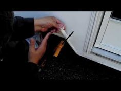 Repairing an external trim strip on my RV. - YouTube