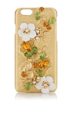 Gold I Phone Case by DOLCE & GABBANA for Preorder on Moda Operandi