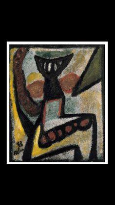 """Jean-Michel Atlan - """"Composition"""", 1953 - Oil on board - 54,6 x 46 cm (*)"""