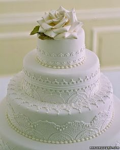 5 Amazing Wedding Cake Decoration Ideas - Lace Cake Decoration
