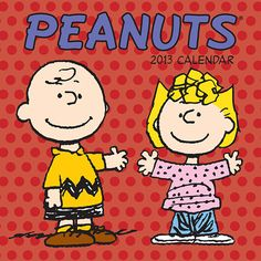 Peanuts Mini Wall Calendar: Whether you're a philosopher like Linus, a Flying Ace like Snoopy, or a lovable loser like Charlie Brown, there is something to touch your heart or make you laugh in the beloved comic, Peanuts. Peanuts is a touchstone that generations embrace with love and loyalty.  $7.99  http://calendars.com/Cartoons-and-Comics/Peanuts-2013-Mini-Wall-Calendar/prod201300000363/?categoryId=cat00046=cat00046#
